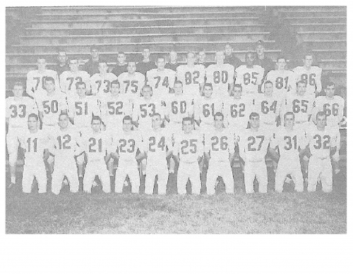 AHS 'TOMCAT' 1962 FOOTBALL TEAM